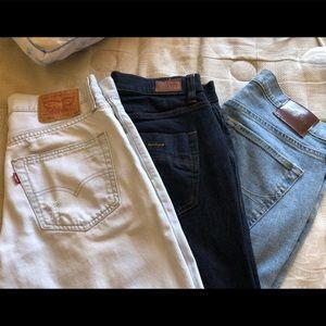 Bundle of Jeans (Levi's, RSQ, Hollister)